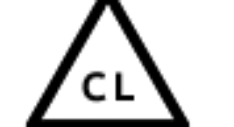Etichette di lavaggio – Triangolo + CL