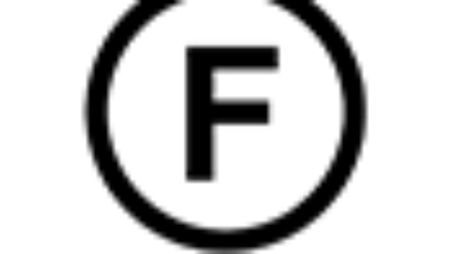 etichette di lavaggio – cerchio + F